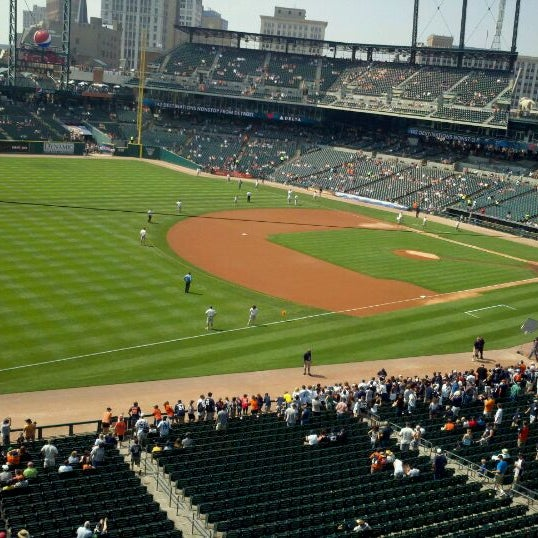 Photo taken at Comerica Park by Lyndsay S. on 9/1/2011