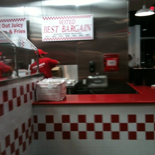 Photo taken at Five Guys by Leslee G. on 8/20/2011