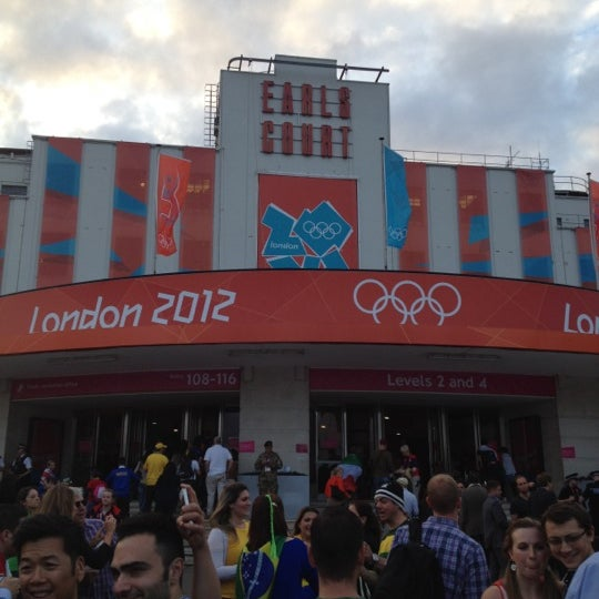 Photo taken at Earls Court Exhibition Centre by Vinny H. on 8/2/2012