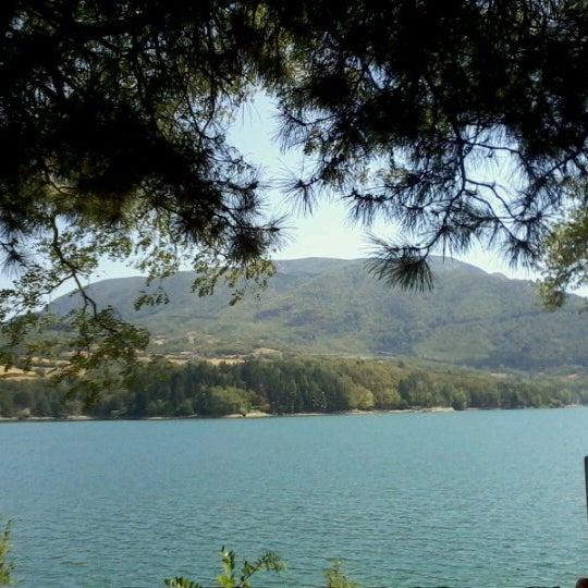 Photo taken at Lago di Suviana by Lorena L. on 8/15/2012