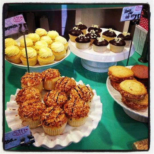 Photo taken at Sift Cupcake & Dessert Bar by Sharon D. on 4/13/2012