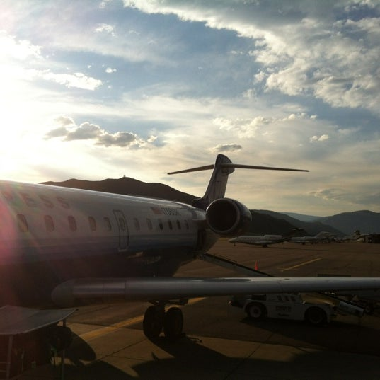 Photo taken at Aspen/Pitkin County Airport (ASE) by Mira on 7/2/2012