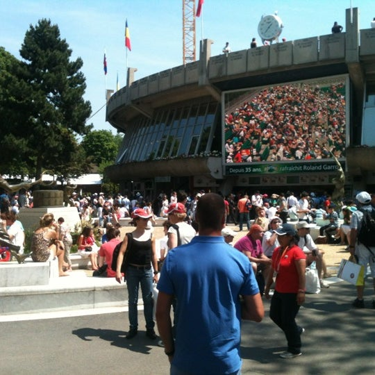 Photo taken at Stade Roland Garros by Rémi M. on 5/27/2012