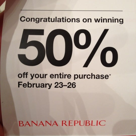 Photo taken at Banana Republic by Scott P. on 2/26/2012