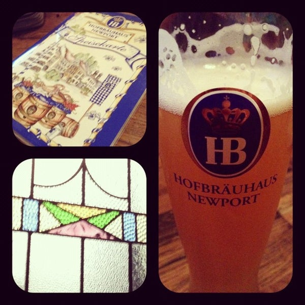 Photo taken at Hofbräuhaus Newport by Laura P. on 9/2/2012