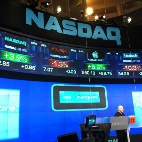Photo taken at Nasdaq Marketsite by Jorge O. on 5/21/2012