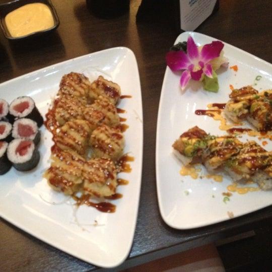 Photo taken at Blu Sushi by Nicole H. on 7/9/2012