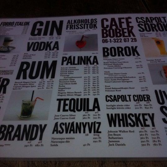 Photo taken at Bobek Cafe by Zsanett S. on 6/6/2012
