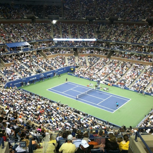 Photo taken at 2014 US Open Tennis Championships by Brandon G. on 8/28/2012