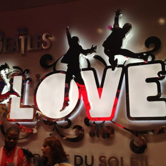 Photo taken at The Beatles LOVE (Cirque Du Soleil) by André A. on 7/28/2012