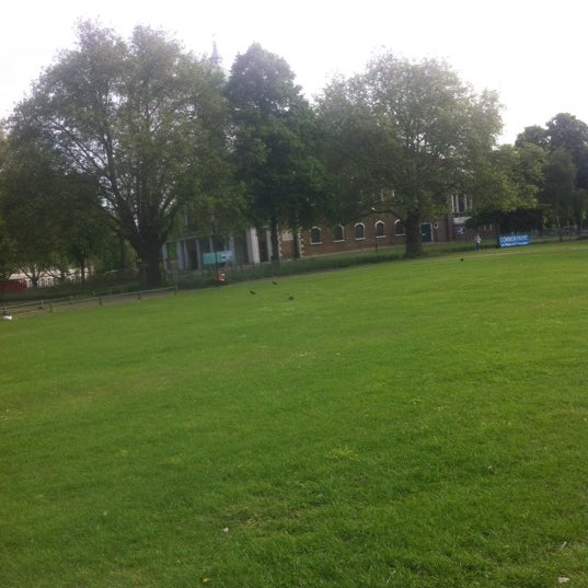 Photo taken at Clapham Common by Victoria K. on 6/1/2012