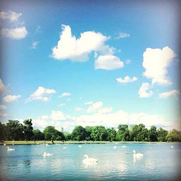 Photo taken at Kensington Gardens by Ploy P. on 6/24/2012