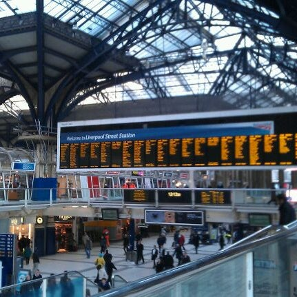 Photo taken at London Liverpool Street Railway Station (LST) by Adam C. on 2/7/2012