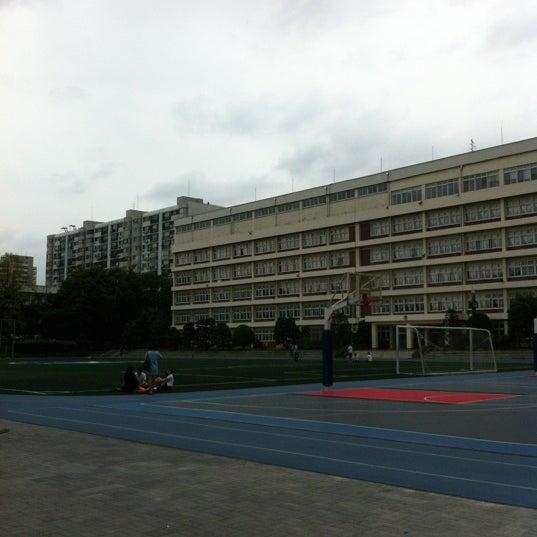 Photo taken at 현대고등학교 by Branden K. on 7/3/2012