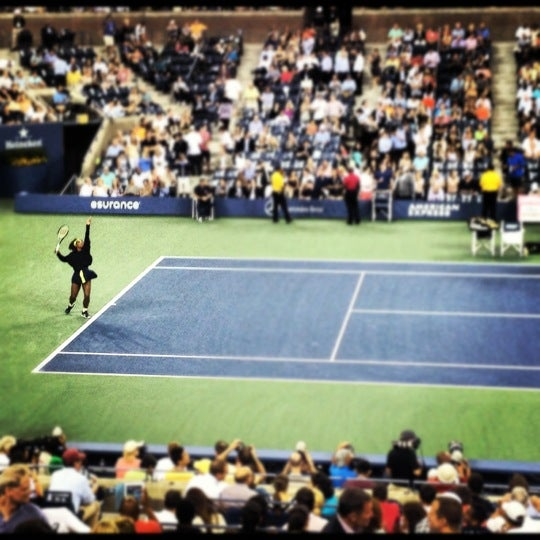 Photo taken at US Open Tennis Championships by Bianca on 8/29/2012