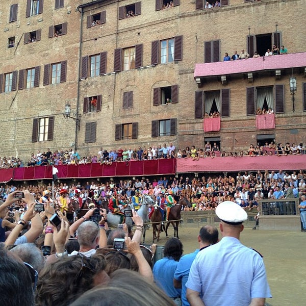 Photo taken at Piazza del Campo by papobiker on 8/14/2012