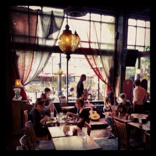 Photo taken at The Gypsy Den Grand Central Café by Scott O. on 8/16/2012