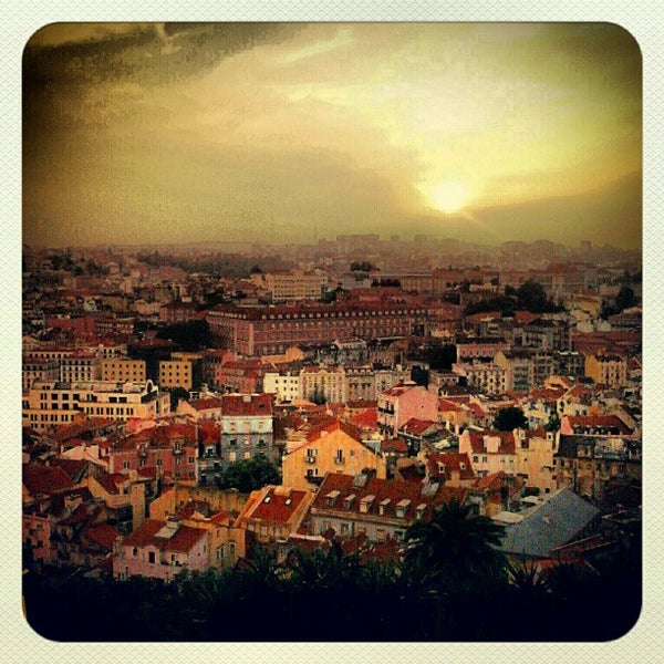 Photo taken at Miradouro da Graça by Flip B. on 5/18/2012