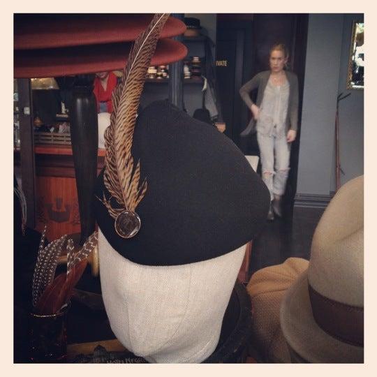 Photo taken at Goorin Bros. Hat Shop by Sarah on 3/29/2012