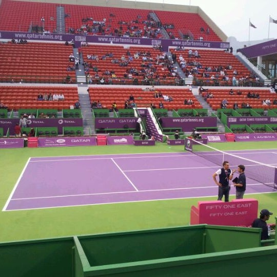 Photo taken at Qatar Tennis Federation by Moataz K. on 2/18/2012