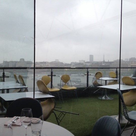 Photo taken at OXO Tower Brasserie by Alexandra C. on 6/11/2012