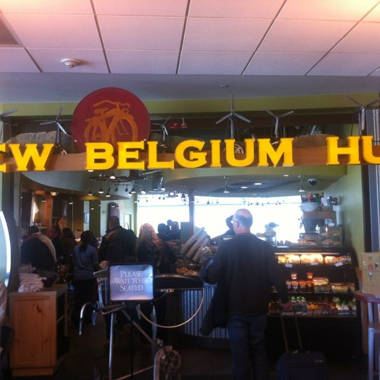 Photo taken at New Belgium Brewing Hub by Nikos V. on 3/9/2012