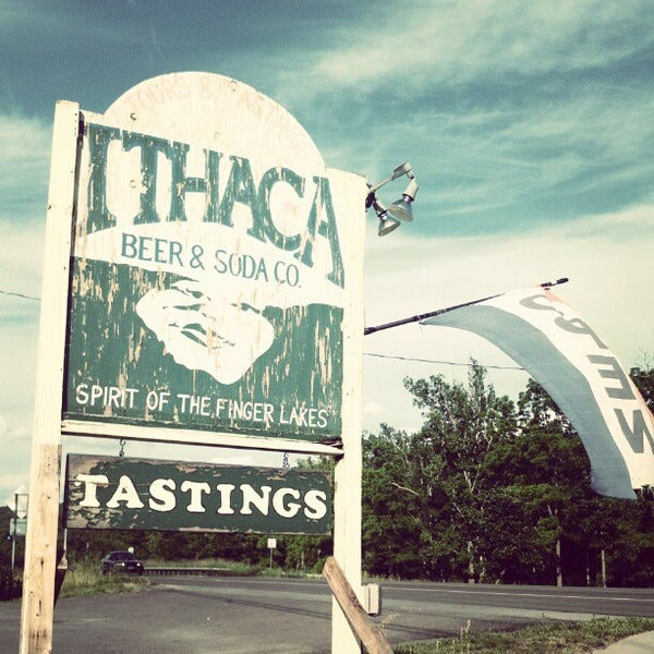 Photo taken at Ithaca Beer Co. Taproom by Asher S. on 6/16/2012