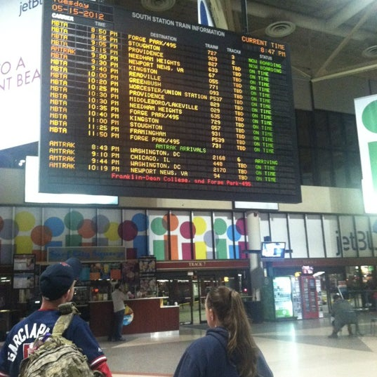 Photo taken at MBTA South Station by Laura C. on 5/16/2012