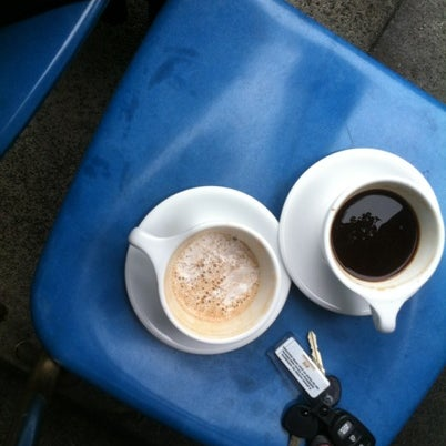 Photo taken at Trabant Coffee and Chai by Hannah on 8/7/2012