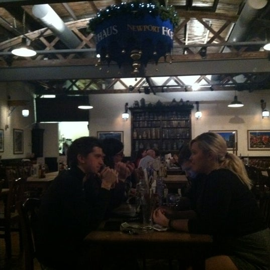 Photo taken at Hofbräuhaus Newport by Seulhui L. on 2/17/2012