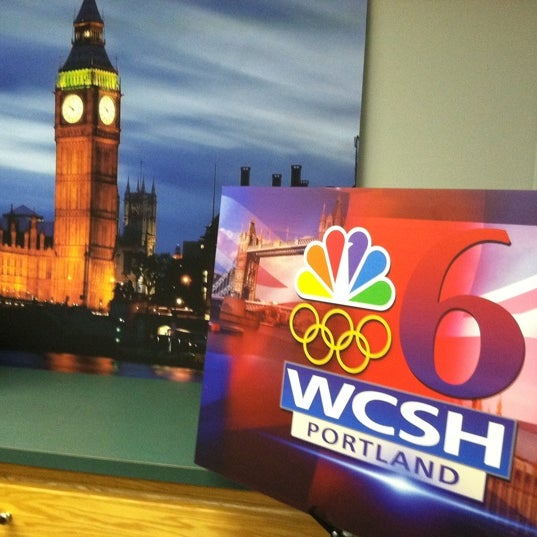 Photo taken at WCSH 6 by Megan L. on 2/23/2012
