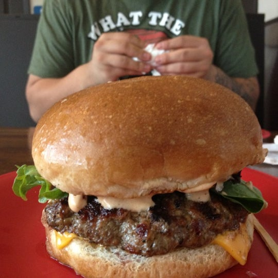 Photo taken at G Burger by Melissa R. on 8/29/2012