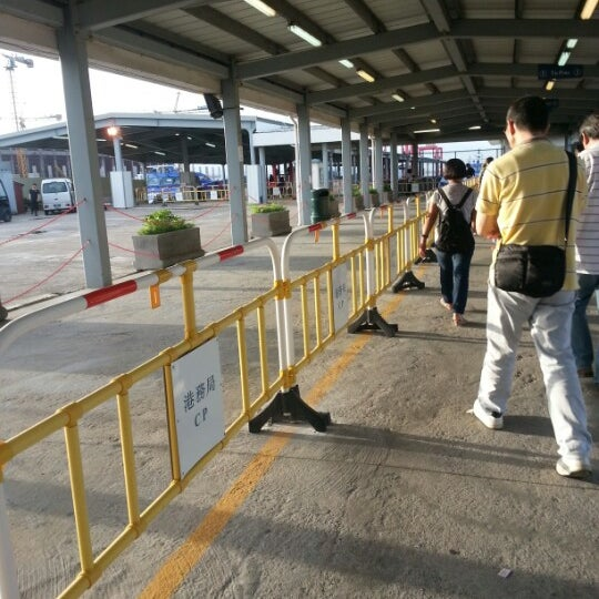 Photo taken at Taipa Ferry Terminal | Terminal Marítimo de Passageiros da Taipa | 氹仔客運碼頭 by Naomi H. on 7/5/2012