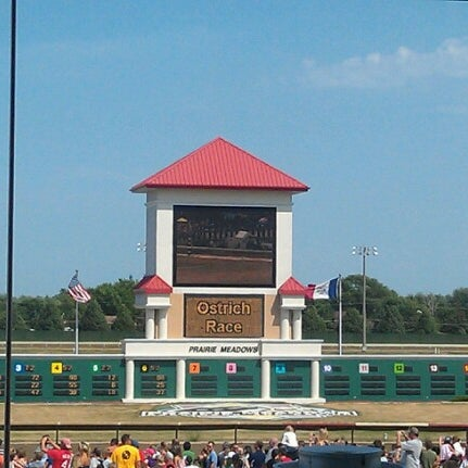 Photo taken at Prairie Meadows by Emily N. on 7/22/2012