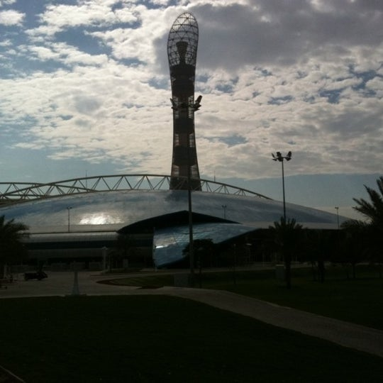 Photo taken at Aspire Park by Rosana B. on 5/29/2012