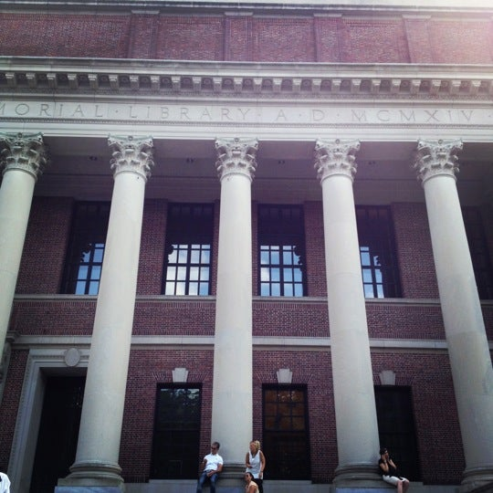 Photo taken at Widener Library by Alicia on 6/21/2012