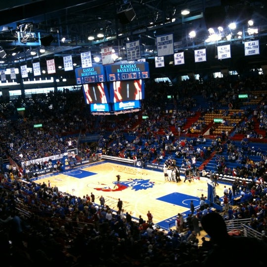 Photo taken at Allen Fieldhouse by Taylor R. on 2/25/2012