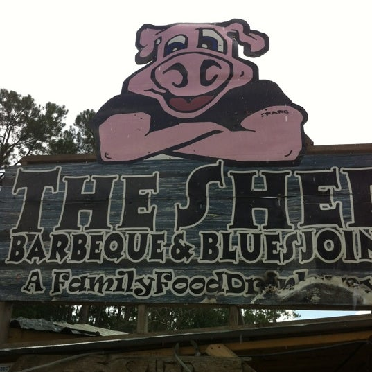 Photo taken at The Shed Barbeque and Blues Joint by Tony W. on 7/15/2012