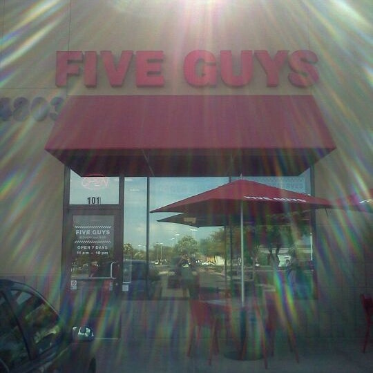 Photo taken at Five Guys by Langston M. on 6/3/2012