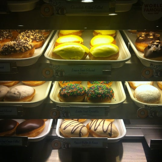 Photo taken at Krispy Kreme by alexandra b. on 4/3/2012