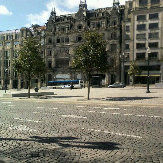 Photo taken at Avenida dos Aliados by Fabio M. on 3/17/2012