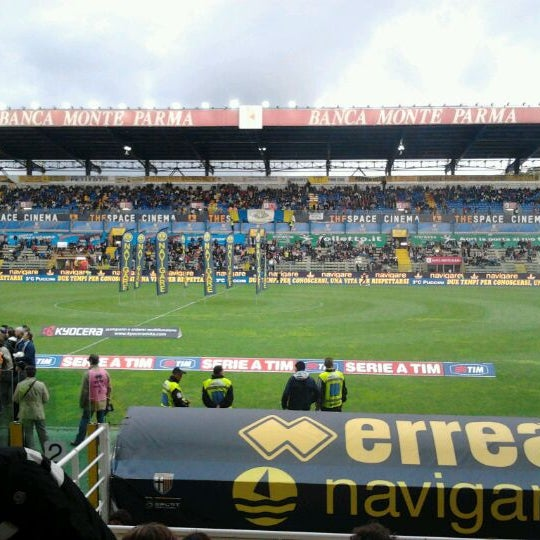 Photo taken at Stadio Ennio Tardini by Marco M. on 5/13/2012