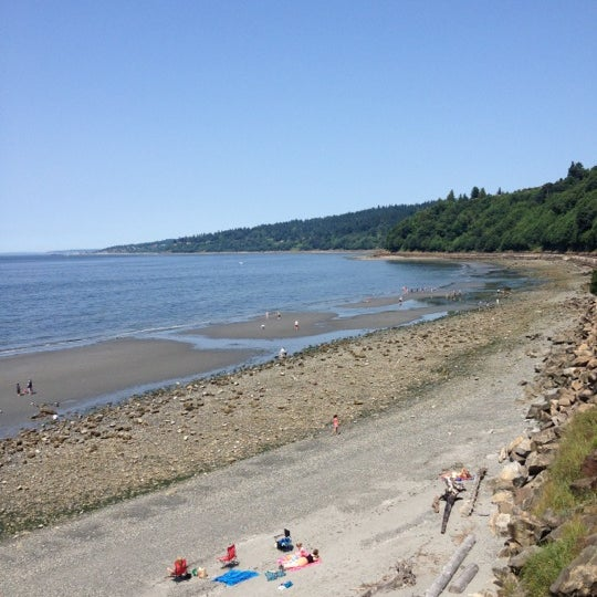 Photo taken at Carkeek Park by Sabrina B. on 7/6/2012