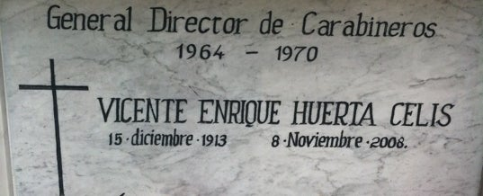 Photo taken at Mausoleo de Carabineros by Pedro G. on 10/10/2012