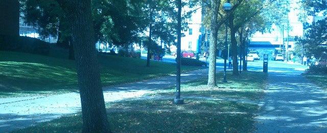 Photo taken at Blegen Library by Natalie J. on 9/30/2014