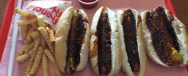 Photo taken at Yocco's - The Hot Dog King by Tony M. on 4/26/2015