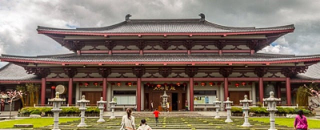 Photo taken at Fo Guang Shan Temple   北岛佛光山 by Klim A. on 10/27/2013