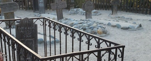 Photo taken at Knott's Berry Farm Boothill Cemetery by IrishPebbles on 7/19/2014