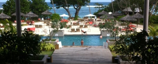 Photo taken at Kempinski Resort Seychelles by Lulu K. on 6/18/2012