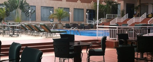 Photo taken at Holiday Inn Accra Airport Hotel by marc n. on 2/16/2012